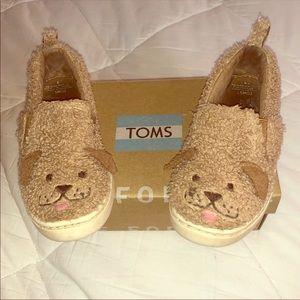 TOMS Luca Doodle Face Velcro Shoes 9 EUC